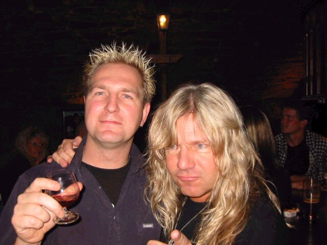a pic fro mat and Tom naumann's birthday bash- I would have to say that mat has some great hair!!!!!!